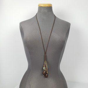 Earth Tones Cord Adjustable Necklace